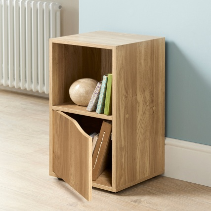 Exceptional 314765 Turin 2 Cube Shelves Oak Finish