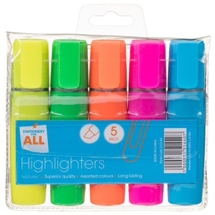 315144-5-pack-Assorted-Colour-Highlighters1