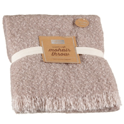 Supersoft Faux Mohair Throw