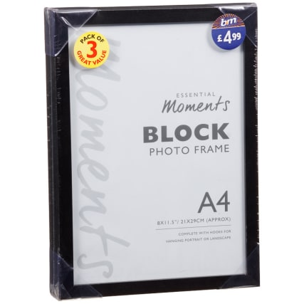 305876-3pk-Block-Black-A4-Photo-Frame1