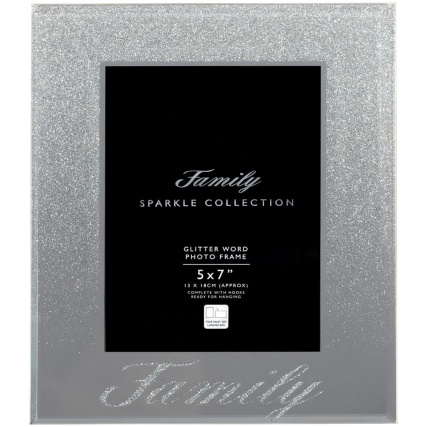 315988-Glitter-Ombre-Word-5x7inch-Photo-frame-family-silver