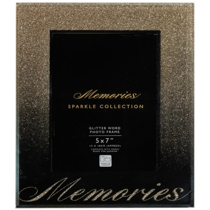 315988-Glitter-Ombre-Word-5x7inch-Photo-frame-memories-gold
