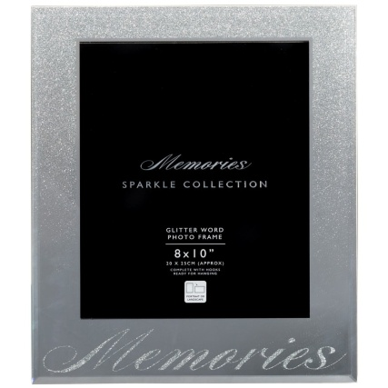 315990-Glitter-Ombre-Word-8x10-Photo-frame-memories-silver