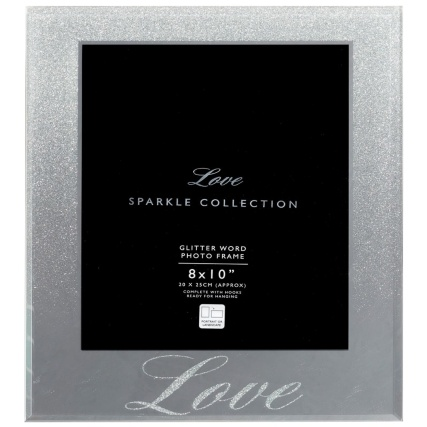 315990-Glitter-Ombre-Word-8x10-Photo-frame-silver-love