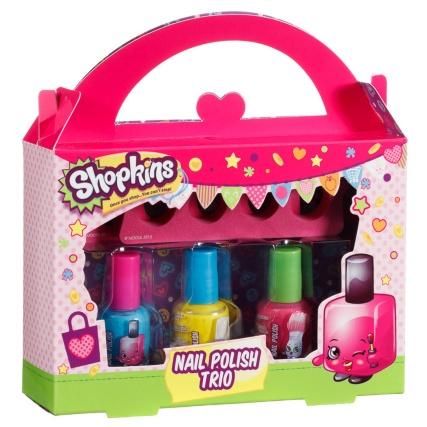 Shopkins Nail Polish Trio Kids Beauty Gifts B M Stores
