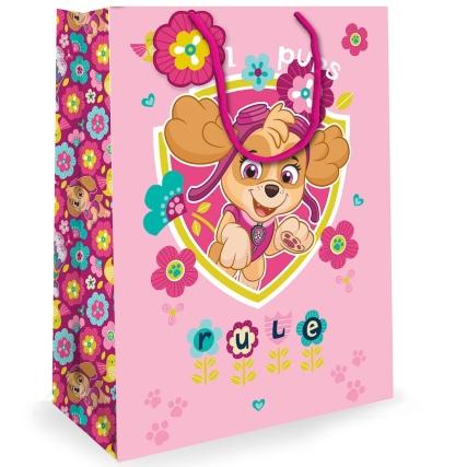 Paw Patrol Extra Large Gift Bag - Pink | Kids Gift Bags - B&M
