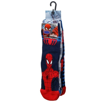 316234-Kids-Spiderman-Socks-5PK