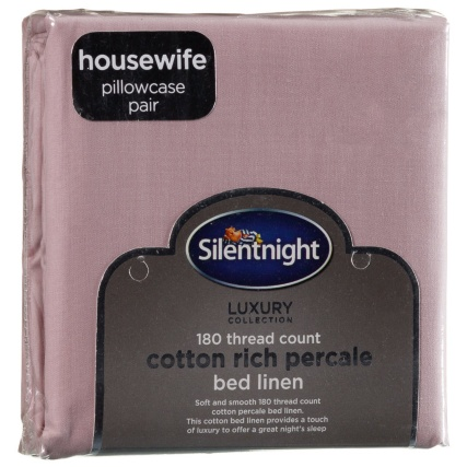 316932-Silentnight-Cotton-Rich-Percale-Bed-Linen-Housewife-pillowcase-Pair-blush-21
