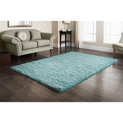 furness duck egg shaggy rug 110x160cm home decor rugs b m. Black Bedroom Furniture Sets. Home Design Ideas