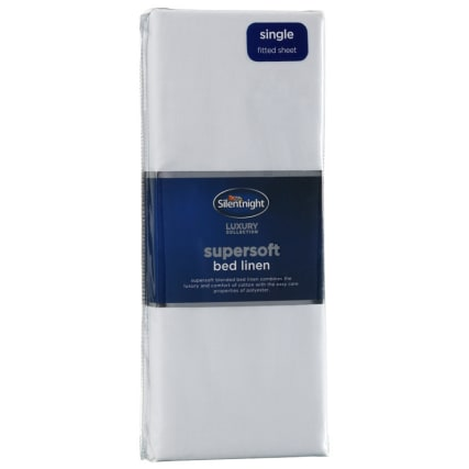 317191-Silentnight-Supersoft-Bed-Linen-Single-Fitted-Sheet-white1