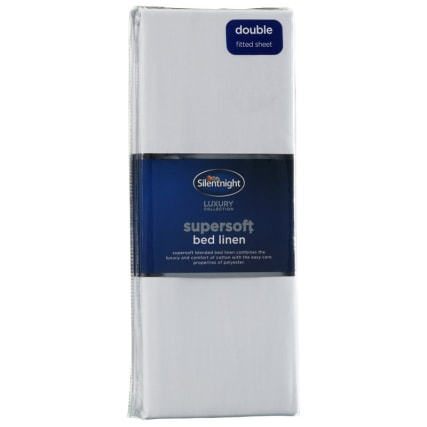 317192-Silentnight-Supersoft-Bed-Linen-Double-Fitted-Sheet-white1