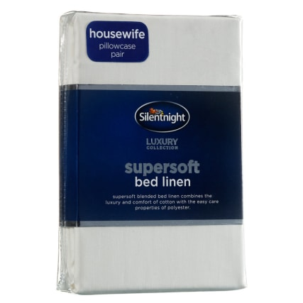 317194-Silentnight-Supersoft-Bed-Linen-Housewife-Pillowcase-Pair-cream1