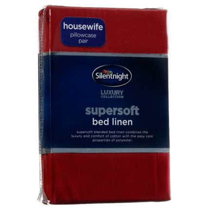 317215-Silentnight-Supersoft-Bed-Linen-Housewife-Pillowcase-red1