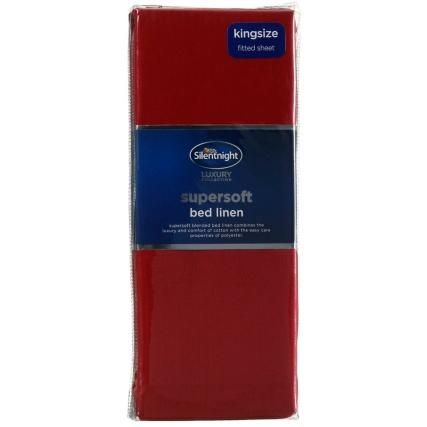 317220-Silentnight-Supersoft-Bed-Linen-Kingsize-Fitted-Sheet-red1