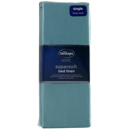 317237-Silentnight-Supersoft-Bed-Linen-Single-Fitted-Sheet-teal1