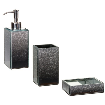 317336-317338-317339-Glitter-Ombre-Soap-Tray-Tooth-Brush-Holder-Soap-Dispenser-silver1