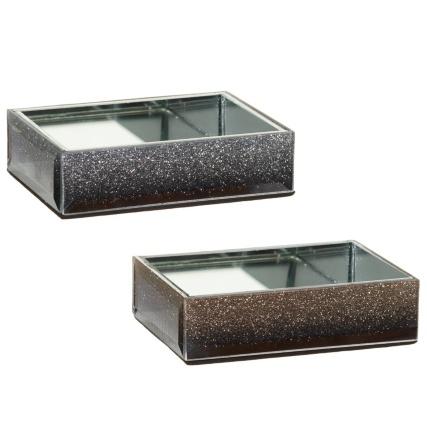 Glitter ombre soap tray bathroom accessories b m stores for Bathroom accessories tray