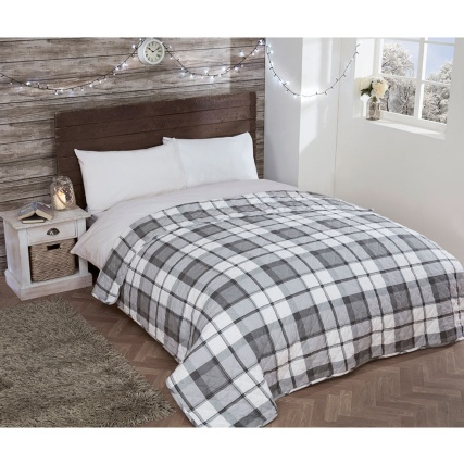 317384-Check-Brushed-Cotton-Bedspread-Mono1