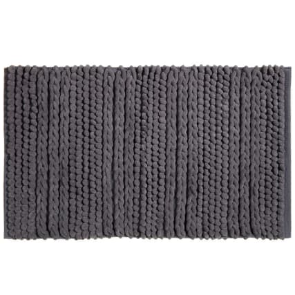 318015-Knitted-Texture-Microfibre-Chenille-Bathmat-charcoal1