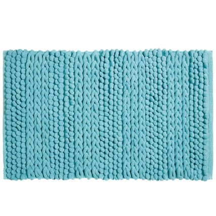 318015-Knitted-Texture-Microfibre-Chenille-Bathmat-soft-teal-21