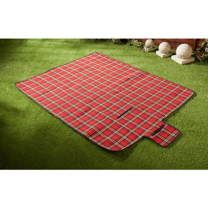 Outdoor Car Storage >> Tartan Picnic Rug - Red | Camping & Outdoors - B&M Stores