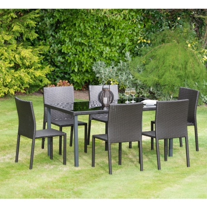 Venice Rattan Effect Patio Set 7pc