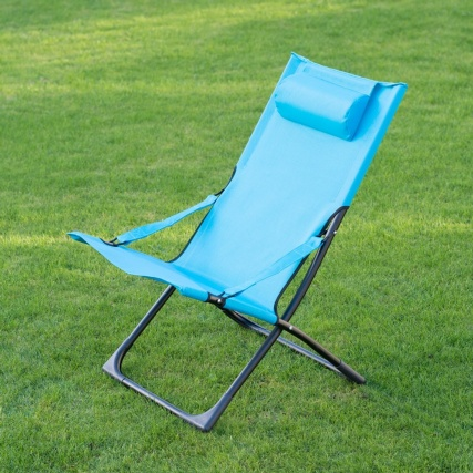 331149--MIAMI-FUNKY-RELAXER-DECK-CHAIR-WITH-PILLOW-blue