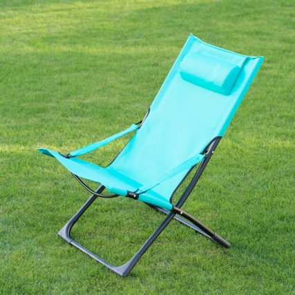 331149--MIAMI-FUNKY-RELAXER-DECK-CHAIR-WITH-PILLOW-green