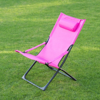 331149-MIAMI-FUNKY-RELAXER-DECK-CHAIR-WITH-PILLOW--pink
