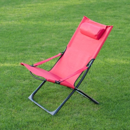 331149-MIAMI-FUNKY-RELAXER-DECK-CHAIR-WITH-PILLOW--red-