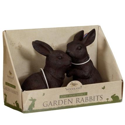 319037-Cast-Iron-Effect-Garden-Rabbits-2