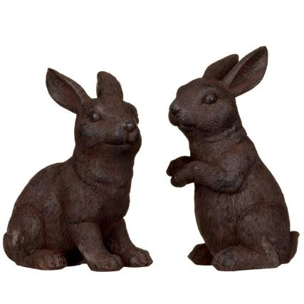 319037-Cast-Iron-Effect-Garden-Rabbits