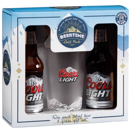 319081-Coors-Light-Twin-Pack-330ml-Beer-and-Glass-Gift-Set