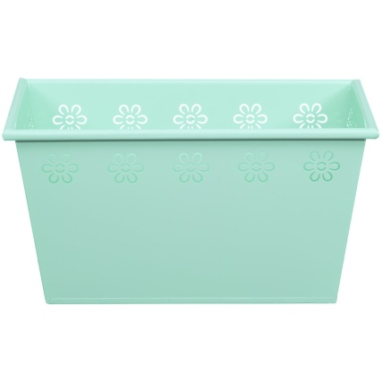 319102-rectangle-tin-planter-light-green