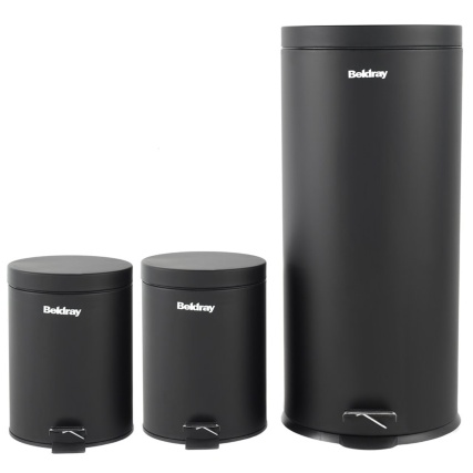 319128-BLACK-3-PIECE-PEDAL-BIN-SET