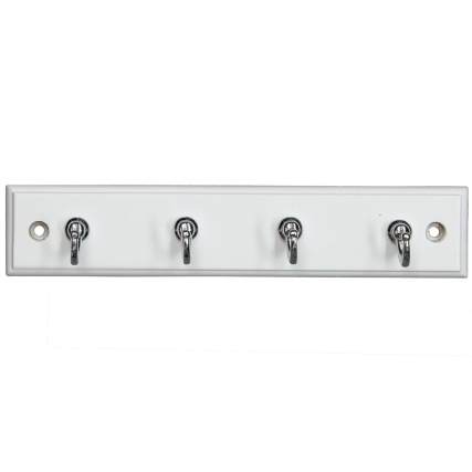 319391-White-And-Chrome-4--Hook-Key-Tidy