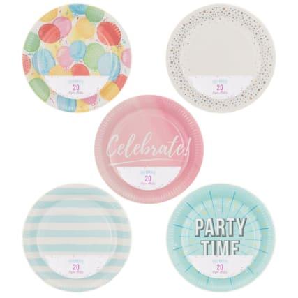 319836-20pk-round-printed-plates-main