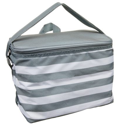 319883-Foldable-Lunch-Cool-Bag-Grey-Stripe