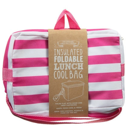 319883-Foldable-Lunch-Cool-Bag-Pink-Stripe