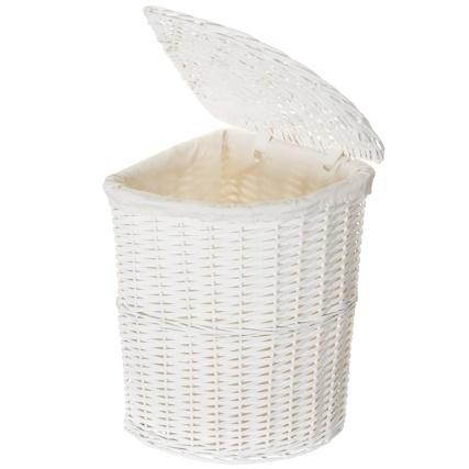 corner wicker laundry basket white laundry hampers b m. Black Bedroom Furniture Sets. Home Design Ideas