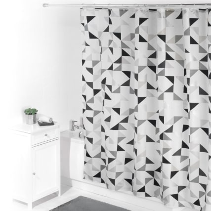 320483-beldray-printed-shower-curtain-black-white-geo