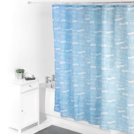 320483-beldray-printed-shower-curtain-blue-2