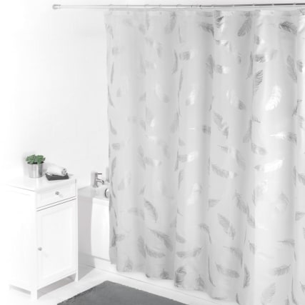 320483-beldray-printed-shower-curtain-silver-feather