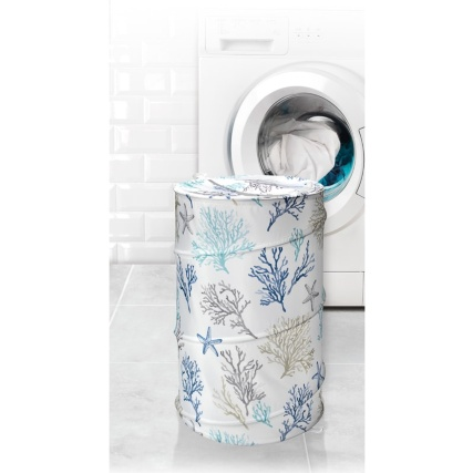 320486-beldray-printed-pop-up-laundry-basket-blue-sea