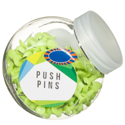 320679-Mini-Tubs-of-Green-Push-Pins