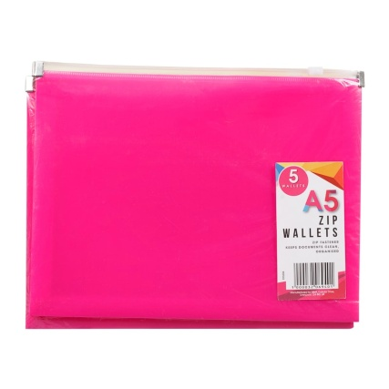 320694-5pk-A5-Zip-Wallets
