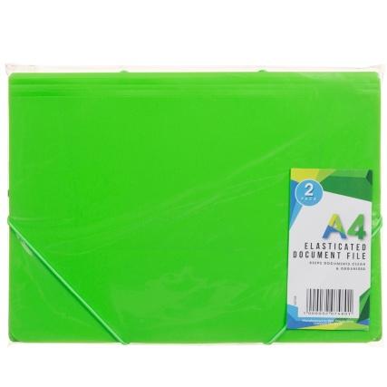 320748-Elasticated-Document-File-2Pk-Green