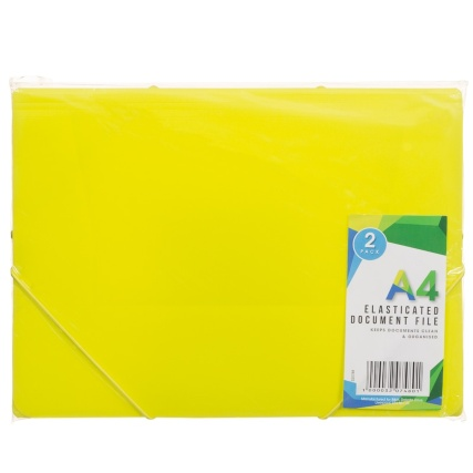 320748-Elasticated-Document-File-2Pk-Yellow