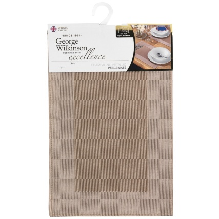 320887-George-WIlkinson-Champagne-Border-Metallic-Placemats