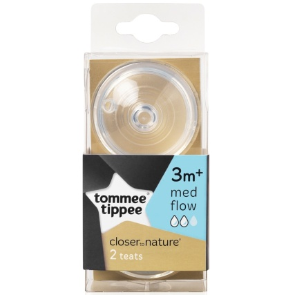 321060-Tommee-Tippee-Teats-3-month-plus-Medium-Flow-2PK